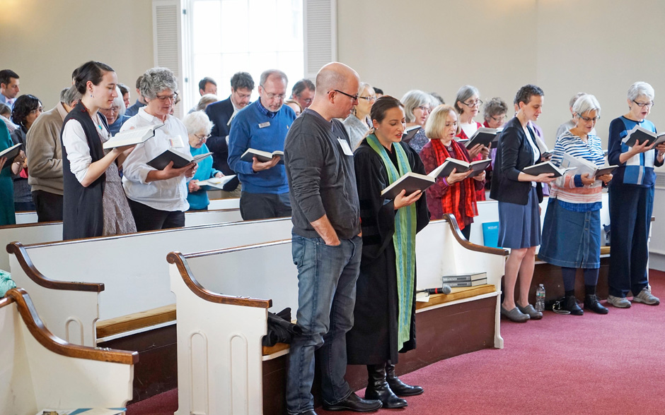 photo of Follen Community Church Congregation on Sunday