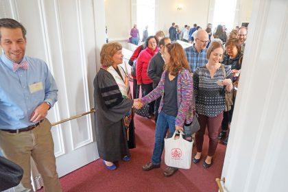 photo of Follen Community Church Congregation on Sunday